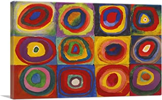 ARTCANVAS Color Study - Squares with Concentric Circles 1913 Canvas Art Print by Wassily Kandinsky- 26