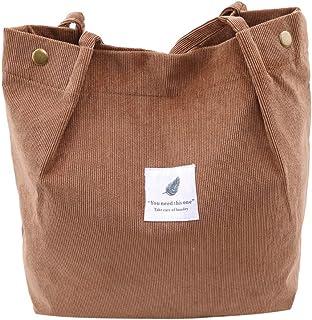 VWH Umhängetaschen Umwelt Einkaufstasche Tote Paket Crossbody Taschen Geldbörsen Casual Handtasche(braun)
