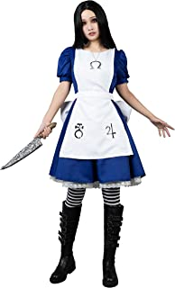 Alice Cosplay Costume Maid Dress with Apron Skull Necklace mp004390