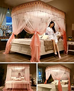 Mosquito Net Large Double Single Size Bed Canopy Netting Bedding Decorative Princess Bed Square Mosquito Net for for Indoor and Outdoor Camping