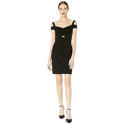 Nicole Miller Structured Heavy Jersey Cold Shoulder Dress (Black) Women