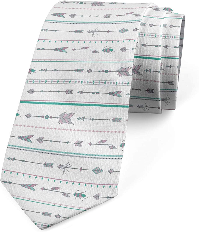 Lunarable Men's Tie, Boho Motifs, Necktie, 3.7