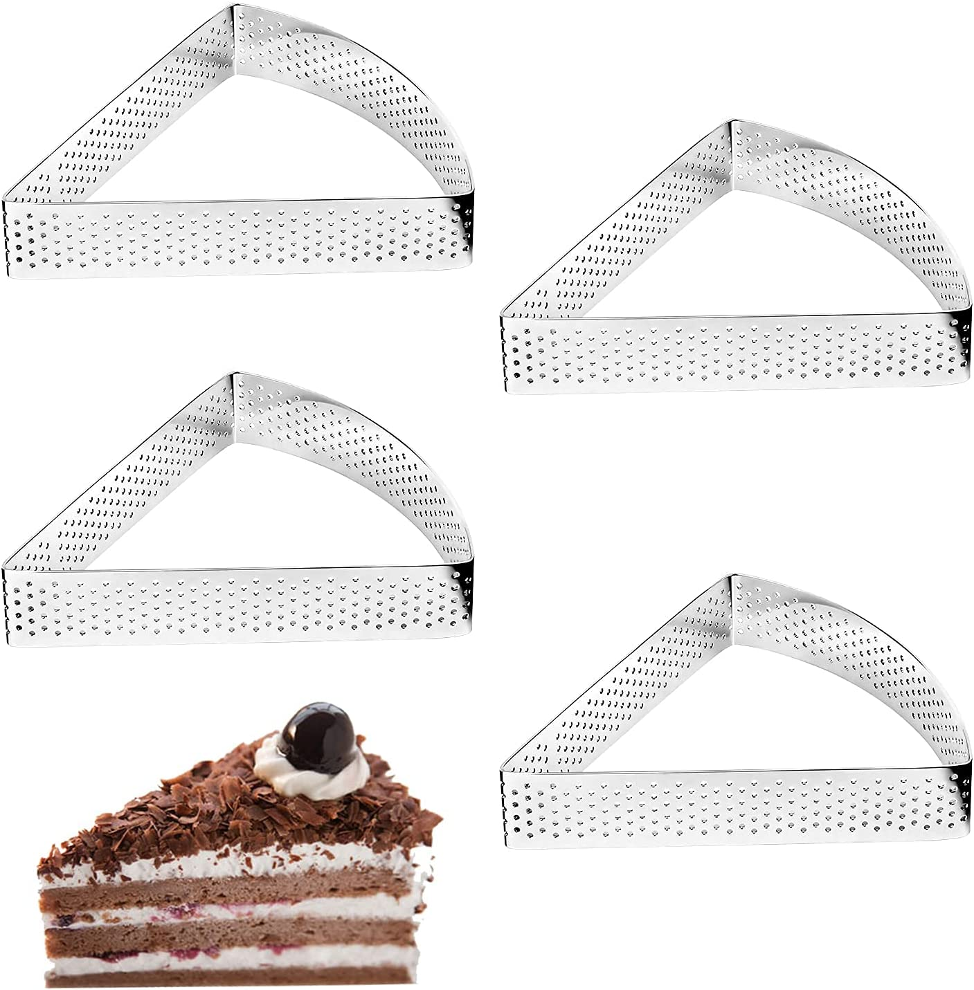 Stainless Large-scale sale Steel Tart Ring Perforated Cake Purchase Mousse Heat-Resistant