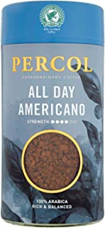 Percol Rainforest Alliance Americano Instant Coffee 100g - Pack of 6