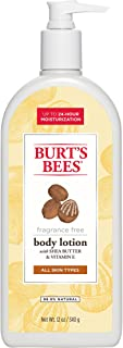 Burts Bees Fragrance Free Shea Butter and Vitamin E Body Lotion, 12 Ounce Bottle