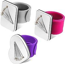 Eiqer Nadelkissen Magnetisch 2 St/ück Magnetisches Handgelenk-N/ähkissen Nadelkissenhalter zum N/ähen von Haarspangen Silikon-Armband-Armband (Keine Stifte)