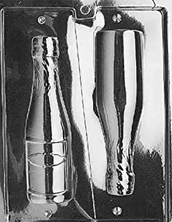 Grandmama's Goodies AO042 Large Champagne Bottle Chocolate Candy Soap Mold with Exclusive Molding Instructions