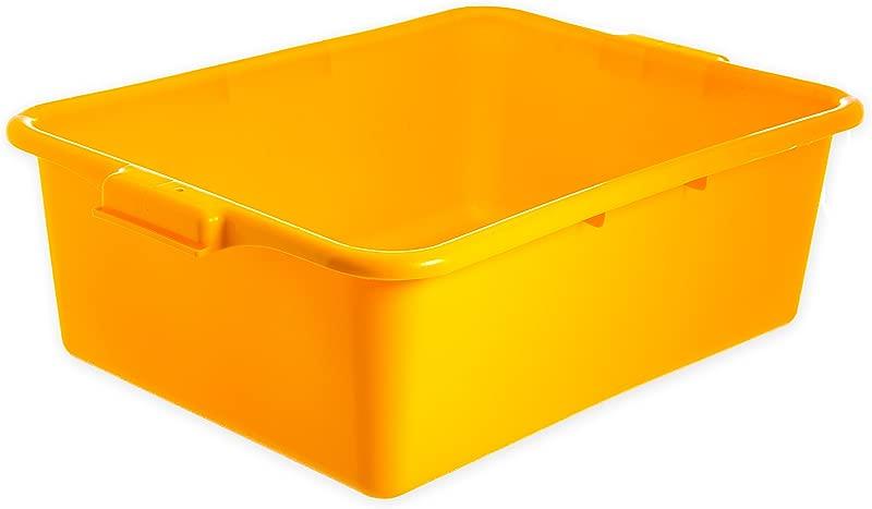 Carlisle N4401104 Comfort Curve Ergonomic Wash Basin Tote Box 7 Deep Yellow Pack Of 12