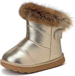 Niño Niños Bebé Niña Chelsea Zapatos Botas al Tobillo Niños Arco Diamante Tamaño