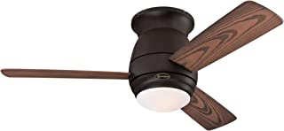 Westinghouse Lighting Westinghoue 7217800 Halley 44-Inch Oil Rubbed Bronze Indoor/Outdoor Ceiling, Dimmable LED Light Kit with Frosted Opal Glass, Remote Control Included USA FAN,