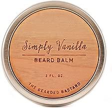 Simply Vanilla Beard Balm  2 Ounce Tin   Natural Nourishing and Conditioning Beard Balm with Lanolin, Beeswax, and Shea Butter to Calm Wild Beards, Vanilla Scented Beard Balm