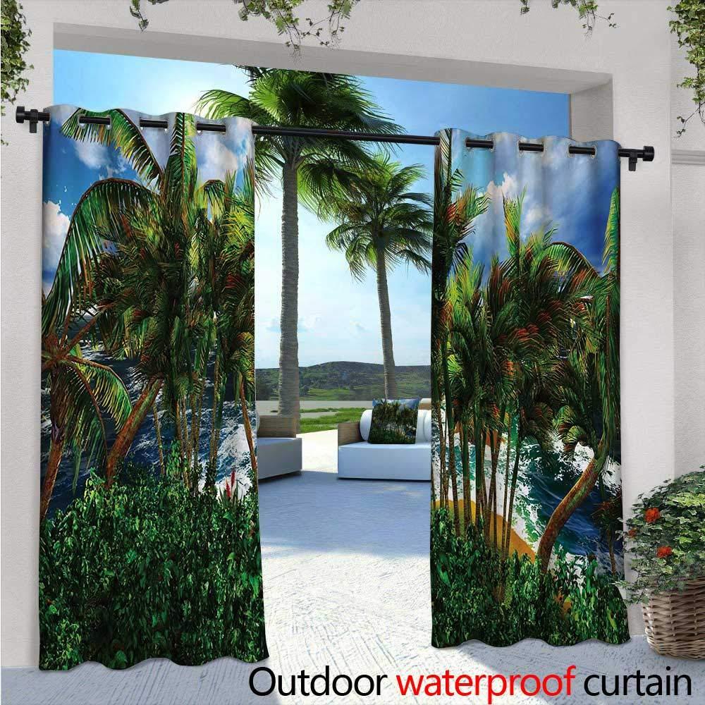 Cortinas de patio hawaiano, flores hawaii, silueta, plantas ...