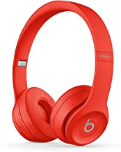 Beats Solo3 Wireless On-Ear Headphones - Citrus Red (Renewed)