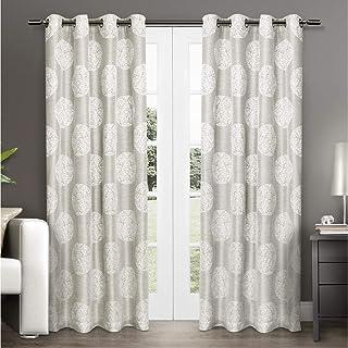 Exclusive Home Curtains Akola Grommet Top Panel Pair, Dove Grey, 54x108, 2 Piece