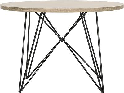 Safavieh Home Collection Vida Retro Mid-Century Light Oak and Black Wood End Table