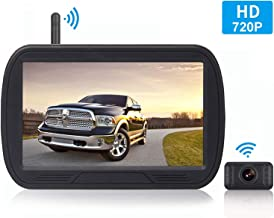 HD Digital Wireless Backup Camera System 5 Inch LCD Monitor for Trucks,Cars,SUVs,Pickups,Vans,Campers Front/Rear View Camera Super Night Vision Waterproof Easy Installation