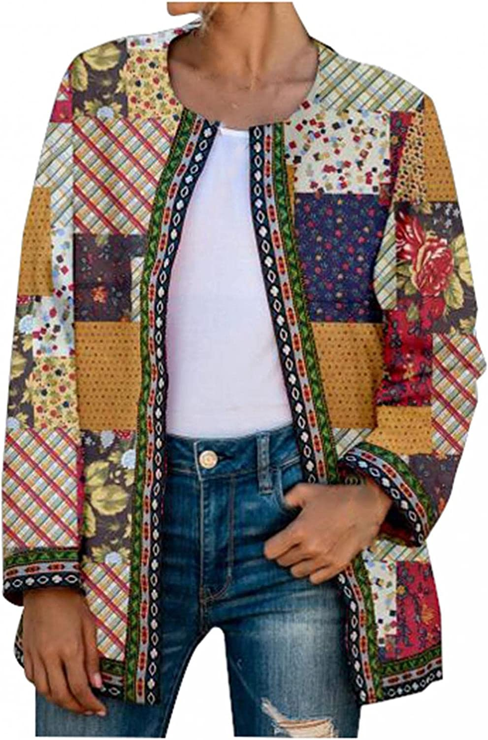 PHSHY Womens Business Work Office Printed Floral Blazers Cotton Don't miss the Product campaign