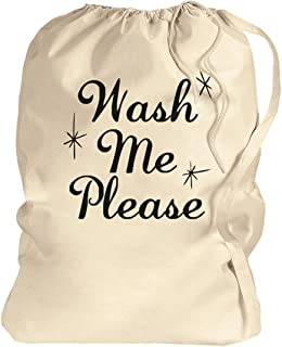 Wash Me Please Dirty Clothes: Canvas Laundry Bag