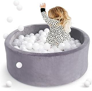 little doveGreyKiddieBallPitPoolPlaypen-IndoorPlaypen Premium Handmade Kiddie Balls Pool - Upgraded