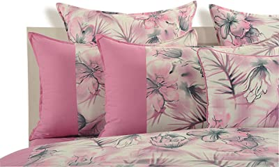 Swayam Peach Colour Bed Sheet with Pillow Covers