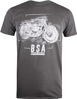 BSA Motocycles Men's Chalk Regular Fit Crew Neck Short Sleeve T - Shirt