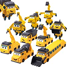 Gifts2U Mix and Match Cars, Magnet Blocks of Take Apart Vehicles Transform into Robot Toys, Deformation Robot STEM Enginee...