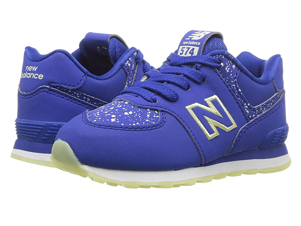 New Balance Kids IC574v1 (Infant/Toddler) (Royal/Glow in the Dark) Boys Shoes