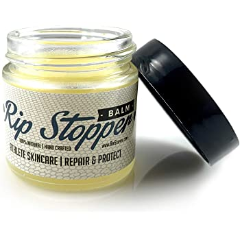 Rip Stopper Skin Balm for Athletes 1oz   Repair & Prevent Rips, Tears & Blisters   100% Natural   Promote Healing Damaged, Dry or Cracked Hands & Fingers   Gymnastics, Climbing, Weightlifting, Rowing