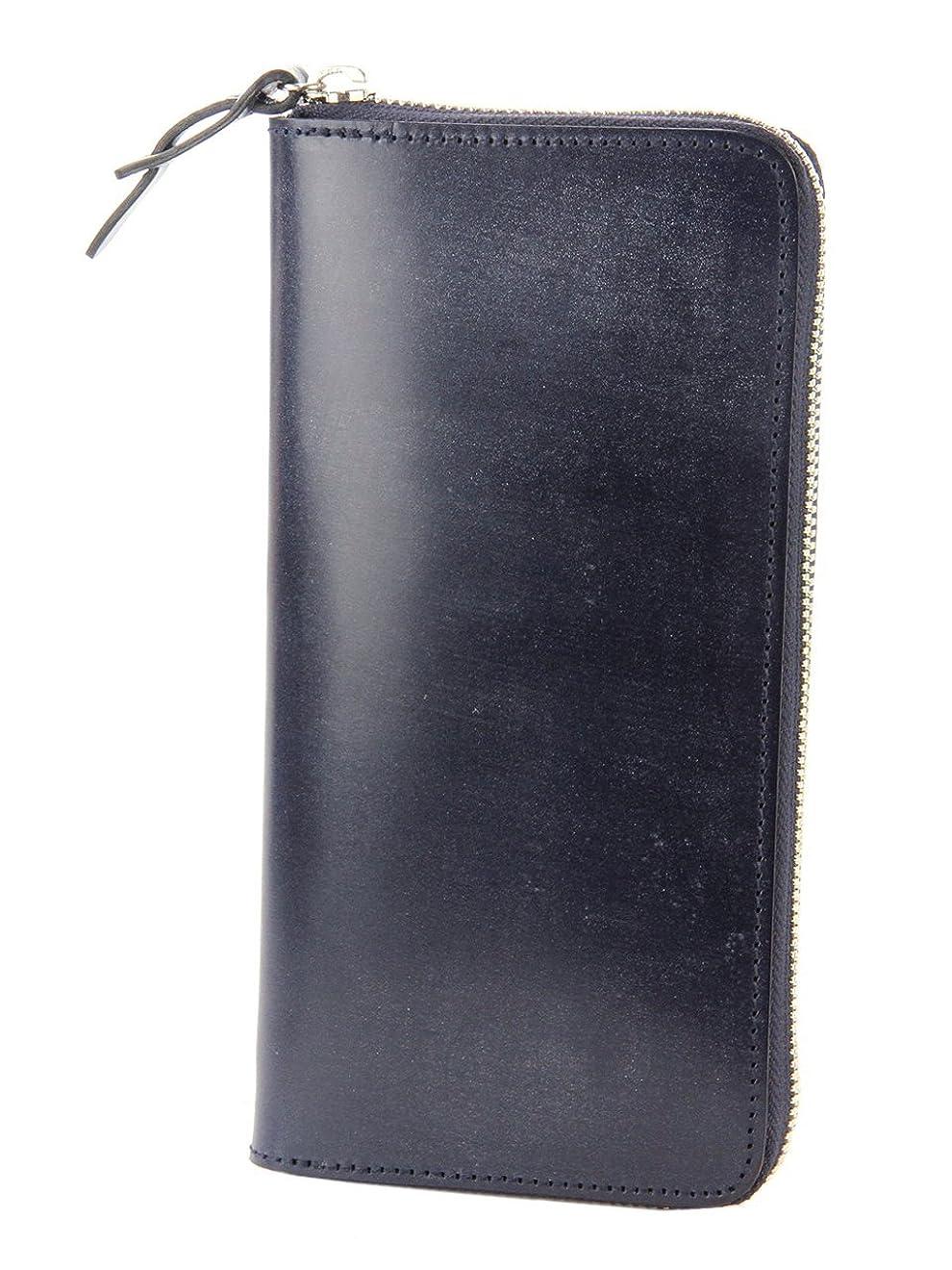 聡明とても多くの背の高いフェイス ブライドルレザー 長財布 ラウンドファスナー式 CO-1LD-0237