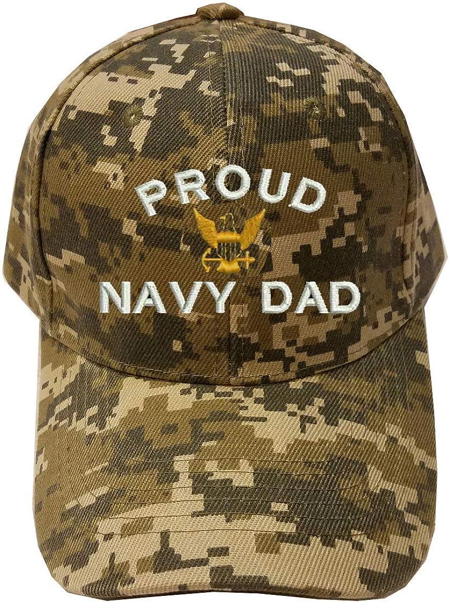 MILITARY Proud Navy Dad Digital Camo Baseball Cap Hat