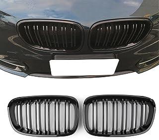 JenNiFer Paire Gloss Noir M Couleur Avant Rein Grille Double Slat pour BMW E90 E91 04-07