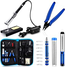 Anbes Soldering Iron Kit, [Upgraded] 60W Adjustable Temperature Welding Tool with ON-OFF..