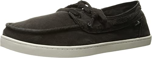 Sanuk Wohommes Pair O Sail Boat chaussures, Washed noir, 9.5 M US