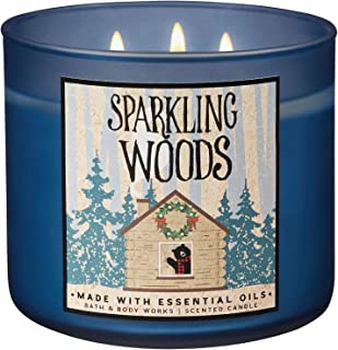 Bath and Body Works 2018 Holiday Limited Edition 3-Wick Candle (Sparkling Woods)