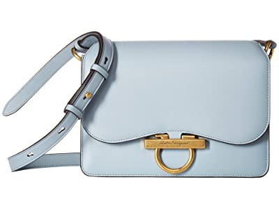 Salvatore Ferragamo Classic Flap Bag (Blue Haze) Handbags