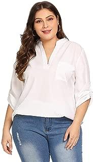 white dip hem blouse