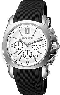 Pierre Cardin Men's Quartz Watch Commandant PC104281F02 with Rubber Strap