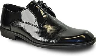 VANGELO Men Dress Shoe Rockefeller Oxford Formal Tuxedo Black Patent