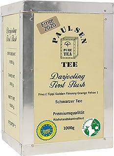 Darjeeling First Flush Ernte 2020 , in Teekiste, 1000g 39,50 Euro/kg, Paulsen Tee Schwarzer Tee, rückstandskontrolliert & zertifiziert