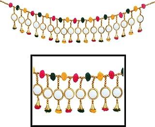 Amba Handicraft Door Hanging Toran Window Valance Dream Catcher Home Décor Interior Pooja bandanwaar Diwali Gift Festival Colorful Indian Handicraft Love.TORAN 200