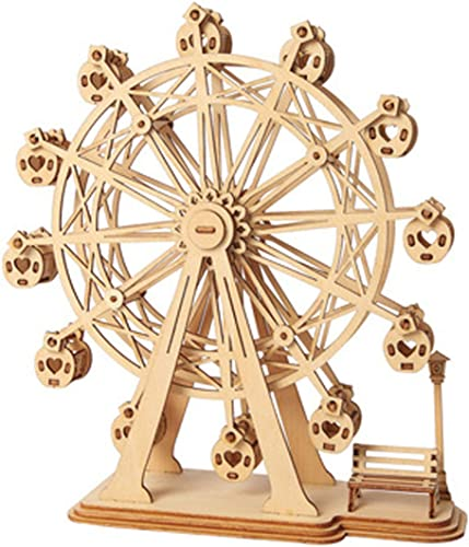 discount Rolife Ferris 2021 Wheel Wooden Puzzle Toy outlet online sale 3D Wooden Model Kits Architecture Kits Great Gifts for Boys,Girls,Women,Children,Adult online sale