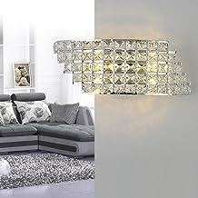 TOOGOO Moderne Kristall Wand Leuchte Chrom Wand Leuchte Wand Leuchte f/ür Wohn Zimmer Bad Haus Innen Beleuchtung Dekoration