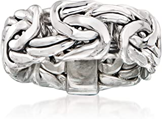 Ross-Simons Sterling Silver Wide Byzantine Ring