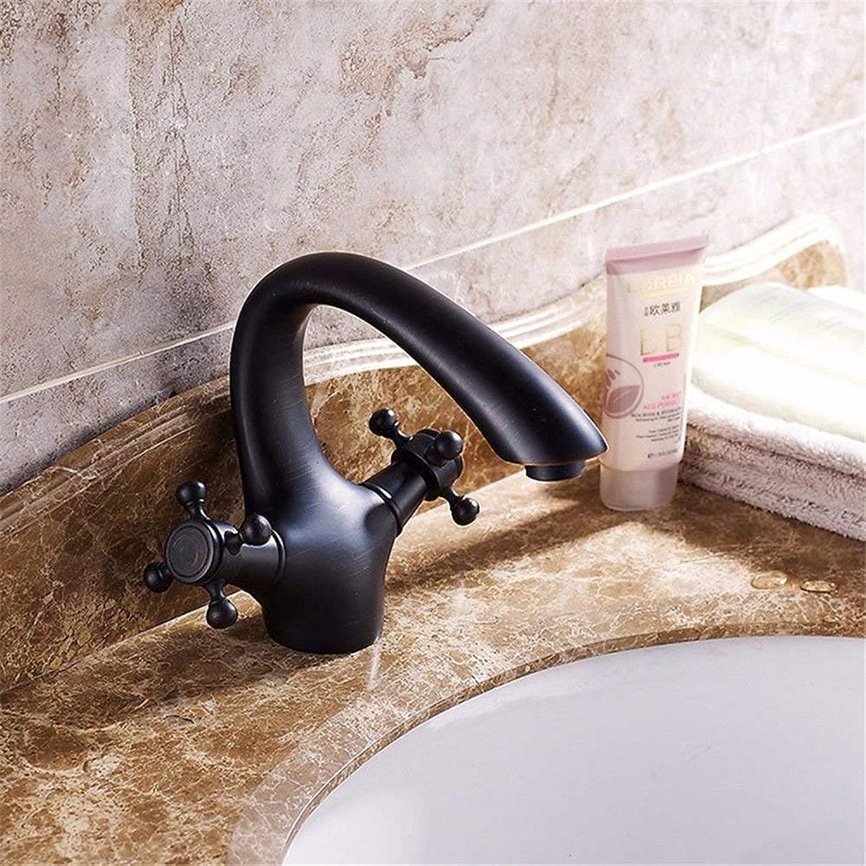 DMNJD Heie und kalte SpülbeckenhahnModerne einfache kupferne heie und kalte Spülbecken Wasserhhne KüchenarmaturKupfer Becken heie und kalte Wasserhahn Geeignet für alle Badezimmer-Spülbecken