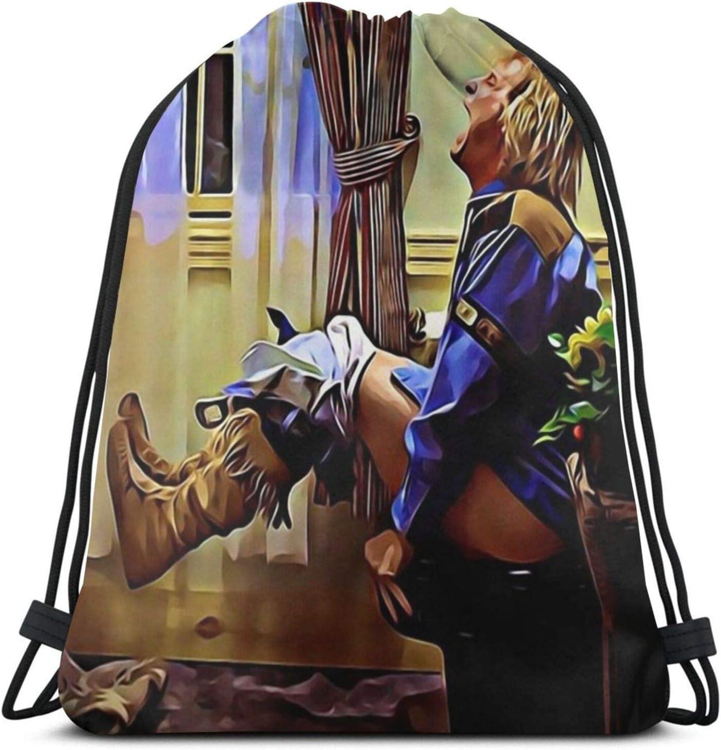 Aizawa Dumb and Dumber Painting Drawstring Bag Sport Gym Backpack Storage Goodie Cinch Bags