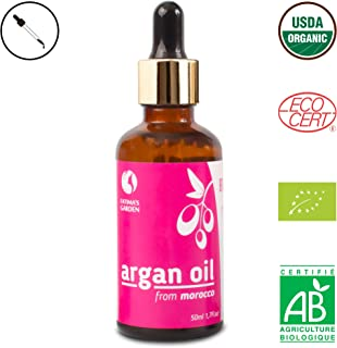 Fatimas Garden Aceite de argán para la cara el cabello la piel y las uñas. Loción hidratante antienvejecimiento marroqu...