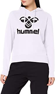 hummel Classic Logo Hoodie con Capucha, Mujer, Blanco, Extra-Small