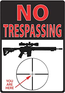 no trespassing you are here sign
