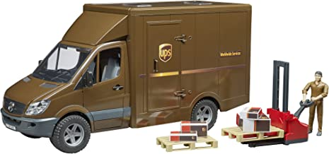 Bruder 02538 MB Sprinter UPS Truck with Driver & Accessories Vehicles – Toys