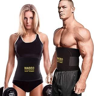 WADEO Waist Trimmer for Women Men,Weight Loss Belt Wrap,Waist Trainer Neoprene Slimmer Kit,Back Support with Sauna Suit Effect